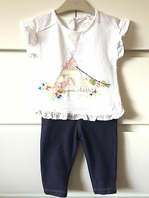 Next Baby Girls Set Outfit 3-6 Months