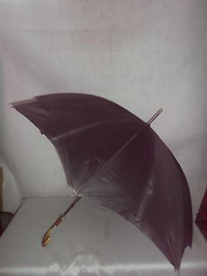 *Vintage Umbrella-The Armstrong-Hallmarked Silver Collar-Horn crook handle*