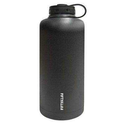 Bar Sets Fifty/Fifty Black Vacuum-Insulated Stainless Steel Bottle with Wide -