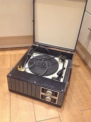 VINTAGE RECORD PLAYER. Works on 45rpm only. Spares-repair?