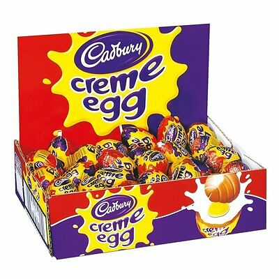 Cadbury Chocolate Creme Eggs X24 EGGS ENGLISH MADE NOT IMPORTED! EASTER