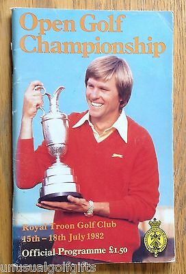 1982 Open Championship Golf Programme 34 year old program in  good condition