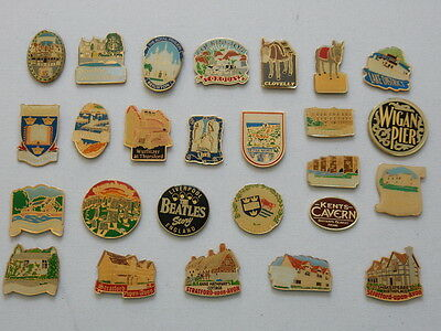 One Selected Metal Souvenir Fridge Magnet from England