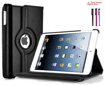 Apple iPad Air 1 360 Degree Rotating Pu Leather Smart Case Cover Stand Black New