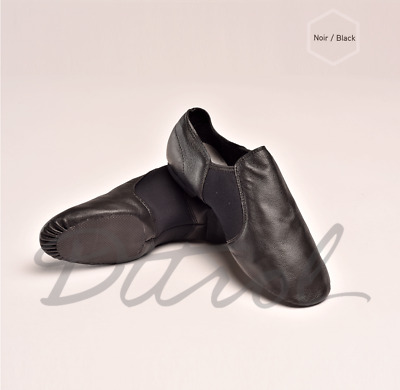 AU SUPPLIER NEW Leather Upper Quality Black Jazz Shoes child to adult