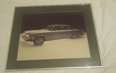 Rolls Royce Corniche Large Framed  Showroom Poster 1975 * Very Rare *
