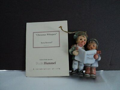 1997 Hummel **christmas Whispers** Christmas Ornament  With  Certificate