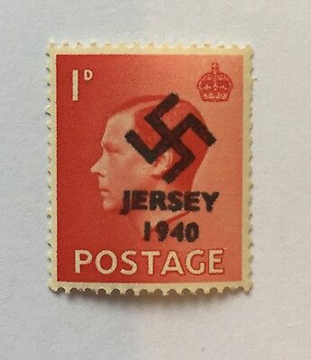 jersey occupation stamps 1d Red Value