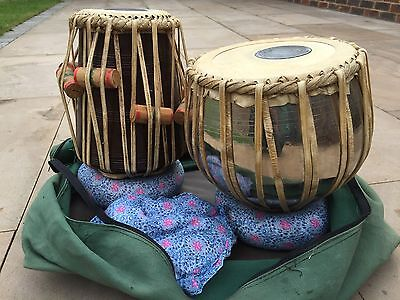 Reduced! Indian tabla drums -pair-dayan and bayan. With Carry Case & Pads.