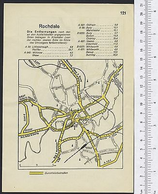 ROCHDALE ROTHERHAM: original German WW2 town plans local history