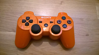 SONY PS3 Dualshock 3 Controller metallic orange original selten rar rot gelb Mix