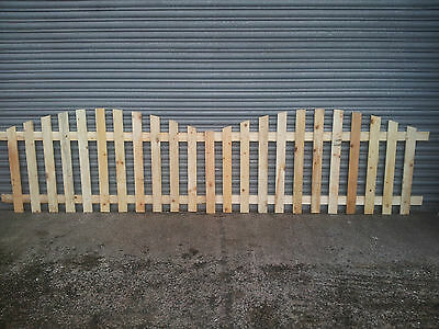 Picket Fence Panels - ARCHED TOP - 6' x 3' - *BARGAIN*