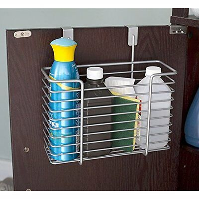 Cabinet Drawer Organization Home Basics Over the Cabinet Basket Organizer [Home]