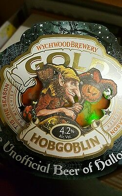 Pump Clip Hobgoblin Wychwood Brewery Halloween Light Up Special Large.