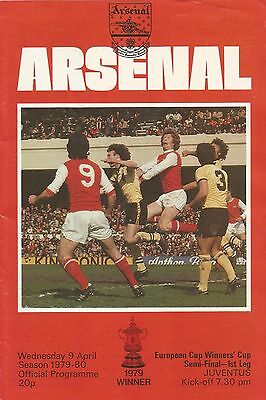Arsenal v Juventus, 9 April 1980, European Cup Winners' Cup Semi Final First Leg