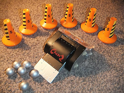 """Large 4.5"""" Pull N Go Robot Wars Chaos 2 With Cones & Balls Accessory - Mint"""