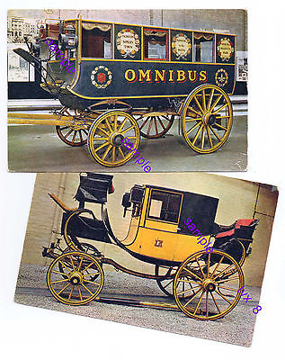 Classic Bus And A Family Coach,both Old P/cards=No Horses You Aint Going Nowhere