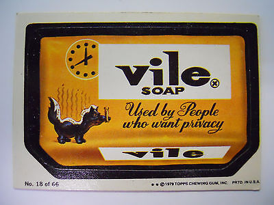 VINTAGE! 1979 Topps Wacky Packages Trading Card #18-Vile-Dial Soap