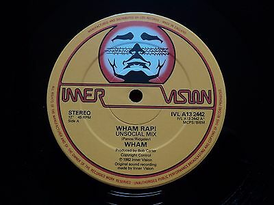 "Wham George Michael Very Rare Panos Label Credit 12"" Wham Rap!' (Ivla132442)"