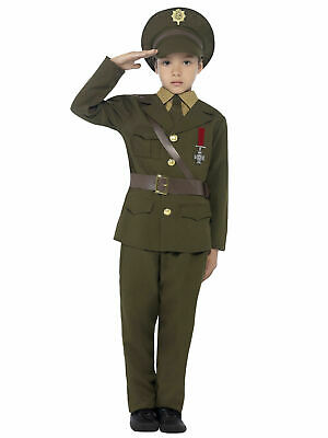 Boys Army Officer Uniform World War 2 WW2 WW1 Book Week Fancy Dress Kids Child