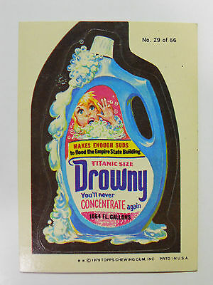 VINTAGE! 1979 Topps Wacky Packages Trading Card #29-Drowny-Downy
