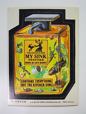 VINTAGE! 1979 Topps Wacky Packages Trading Card #129-My Sink-My Sin Perfume