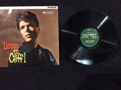 Cliff Richard Listen To Cliff On Green Columbia 33sx1320 (sp)