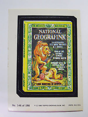 1979 Topps Wacky Packages Trading Card #146-National Geografink-Gragraphic