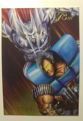 '94 Flair - Mirror images 97 Trading Card - Marvel comics cable vs stryfe, 1993