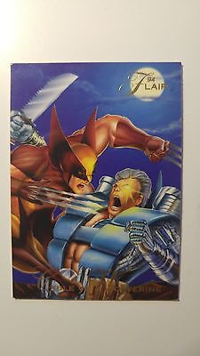'94 Flair Cable VS Wolverine 74 Trading Card - Marvel comics 1990