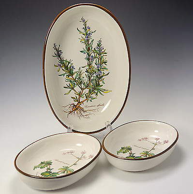 Villeroy & Boch Botanica Large Oven Dish Rosmatinus officialis & 2 Small Dishes