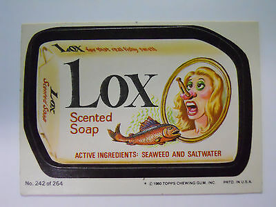 VINTAGE! 1980 Topps Wacky Packages Trading Card #242-Lox-Lux Soap