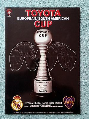 2000 - CLUB WORLD CUP FINAL PROGRAMME - REAL MADRID v BOCA JUNIORS