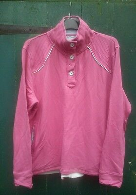 Ladies Top. TAYBERRY Equestrian. Pink XL. 24 ins across front of chest.