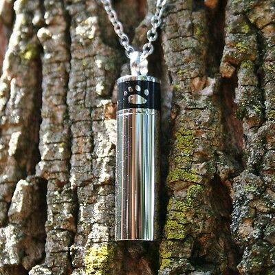 Cremation Pendant Urn NECKLACE Jewelry LARGE VIAL Paw Print Pet Dog Cat Ashes