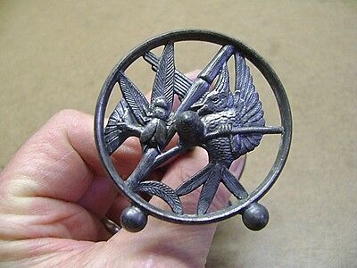 Vintage Victorian Ornamental Pewter Spoon Rest Pretty Design Very Cool Piece!