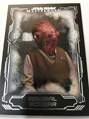 Star Wars Masterworks 2016 Admiral Ackbar Base Card #48