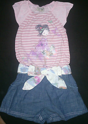 BNWT Next Girls' Embellished Fairy & Butterfly Pink Playsuit Various Sizes
