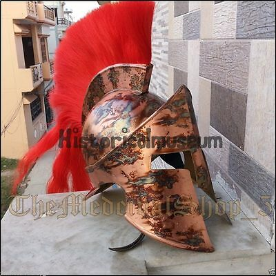 Greek Medieval Armour Helmet 300 Movie Roleplay Spartan King Leonidas Helmet ZW5
