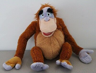 13 inch Jungle Book Stuffed Animal Toy Monkey KING LOUIE Disney Store Authentic