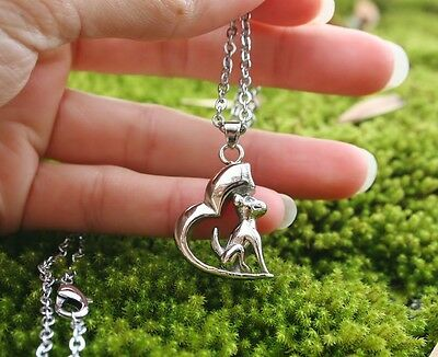 Dog Cremation Jewelry Pendant Urn Ashes NECKLACE Heart Beautiful Memorial Gift