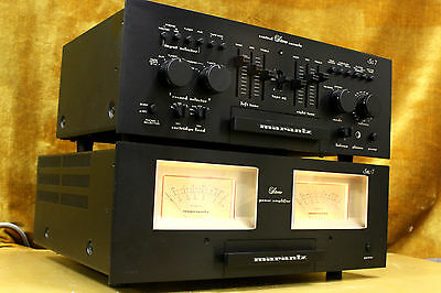 Marantz Model Sm 7 And Sc 7 Vintage Amplifier And Preamplifier