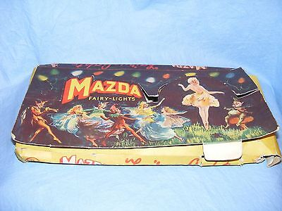 Vintage Old Glass Mazda Fairy Light Christmas Tree Decoration Lights Bulbs Lamps