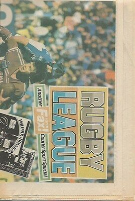 Halifax Rugby League 1987-98 - Halifax Courier Supplement 24 Aug 1987