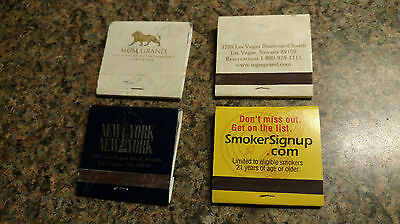 4 vintage Casino Las Vegas Matches Matchbook MGM Grand New York Smokers