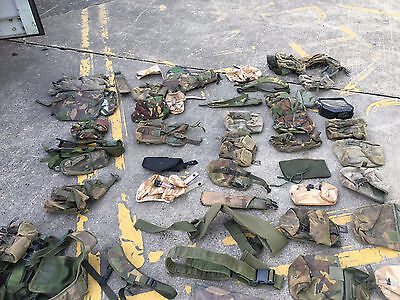LARGE job lot of British army surplus DPM camouflage pouches + items