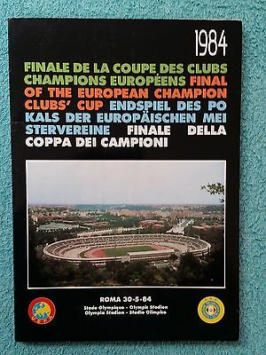 1984 - EUROPEAN CUP FINAL PROGRAMME - ROMA v LIVERPOOL - SCARCE V.I.P EDITION