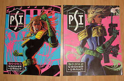 Judge Anderson Books 1 and 2 (Best of 2000AD) (Pback 1987)