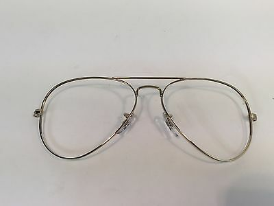 Ray Ban Sunglasses Aviator RB3025 Gold Frame Front 55mm