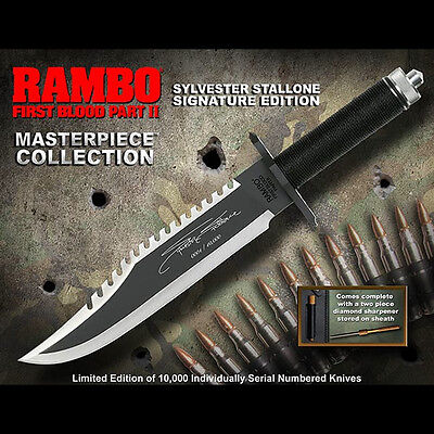 Hollywood Collectibles HCG Rambo First Blood 2 Stallone Sig Edition knife Sealed